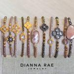 Gold Vermeil and Swarovski Crystal Moroccan Bracelets
