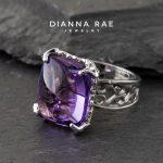 Purple Pool Amethyst Ring